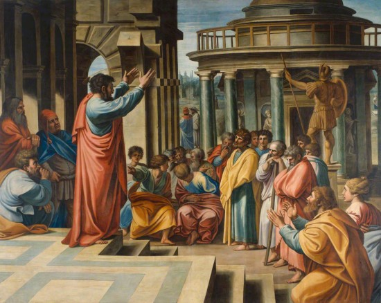 Thornhill, James; Paul Preaching in the Areopagus; Royal Academy of Arts; http://www.artuk.org/artworks/paul-preaching-in-the-areopagus-149263
